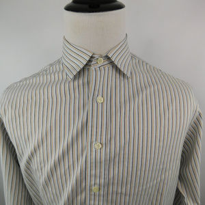 Brooks Brothers Men's Non Iron Striped Dress Shirt